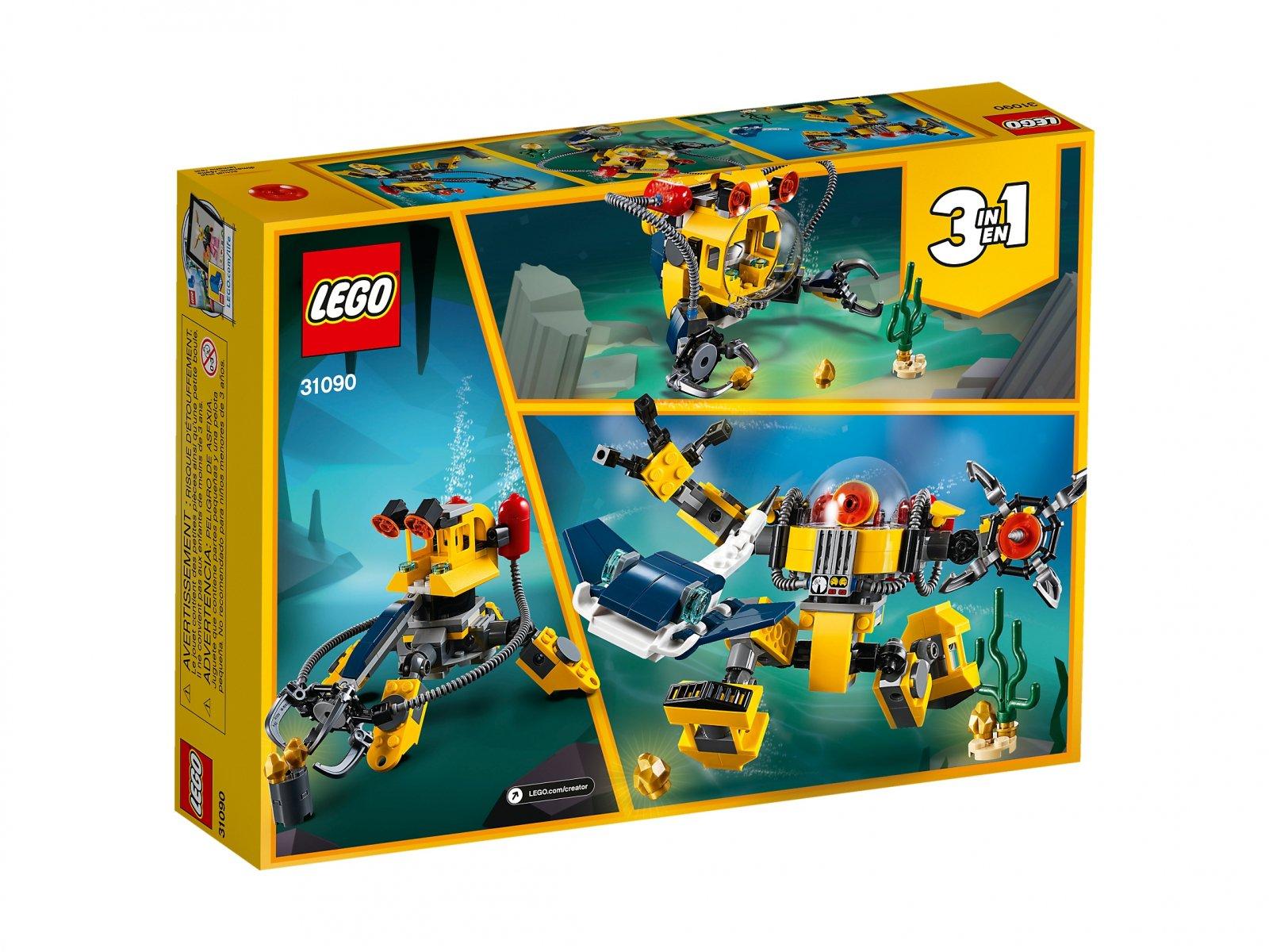 LEGO Creator 3 w 1 Podwodny robot