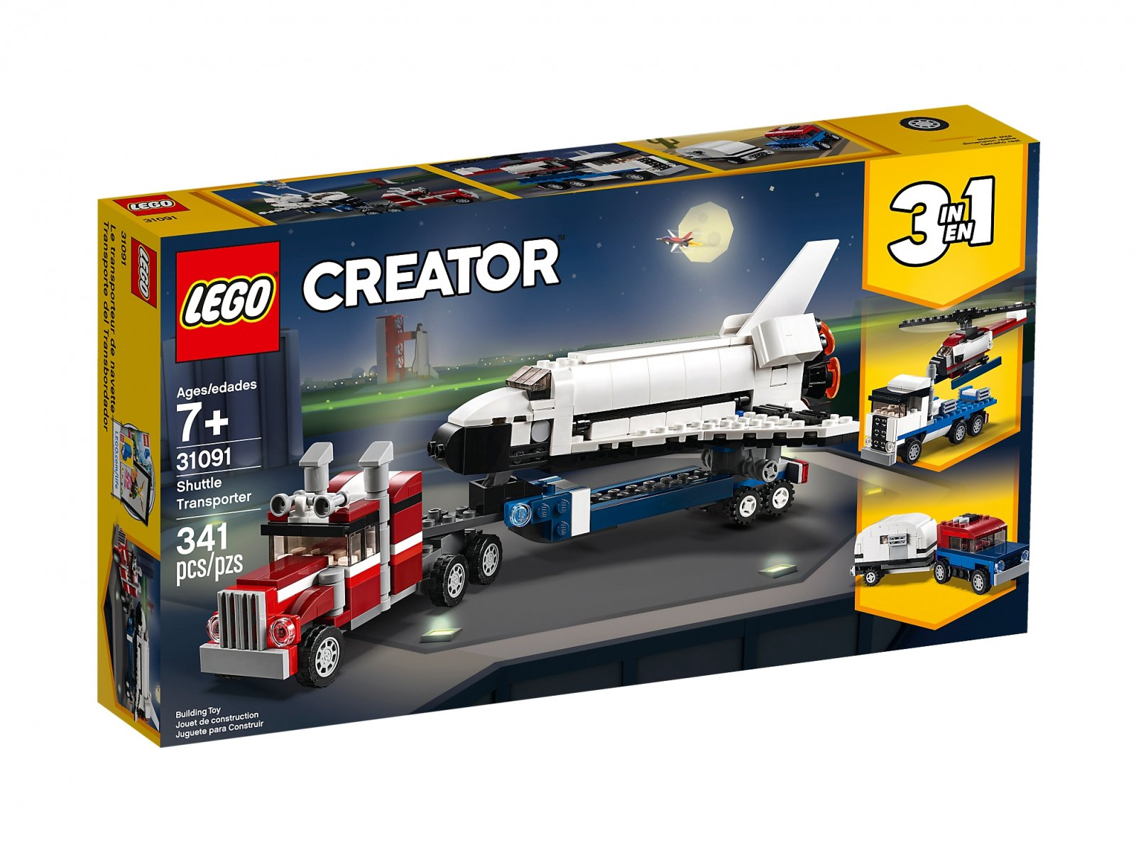 LEGO Creator 3 w 1 Transporter promu 31091