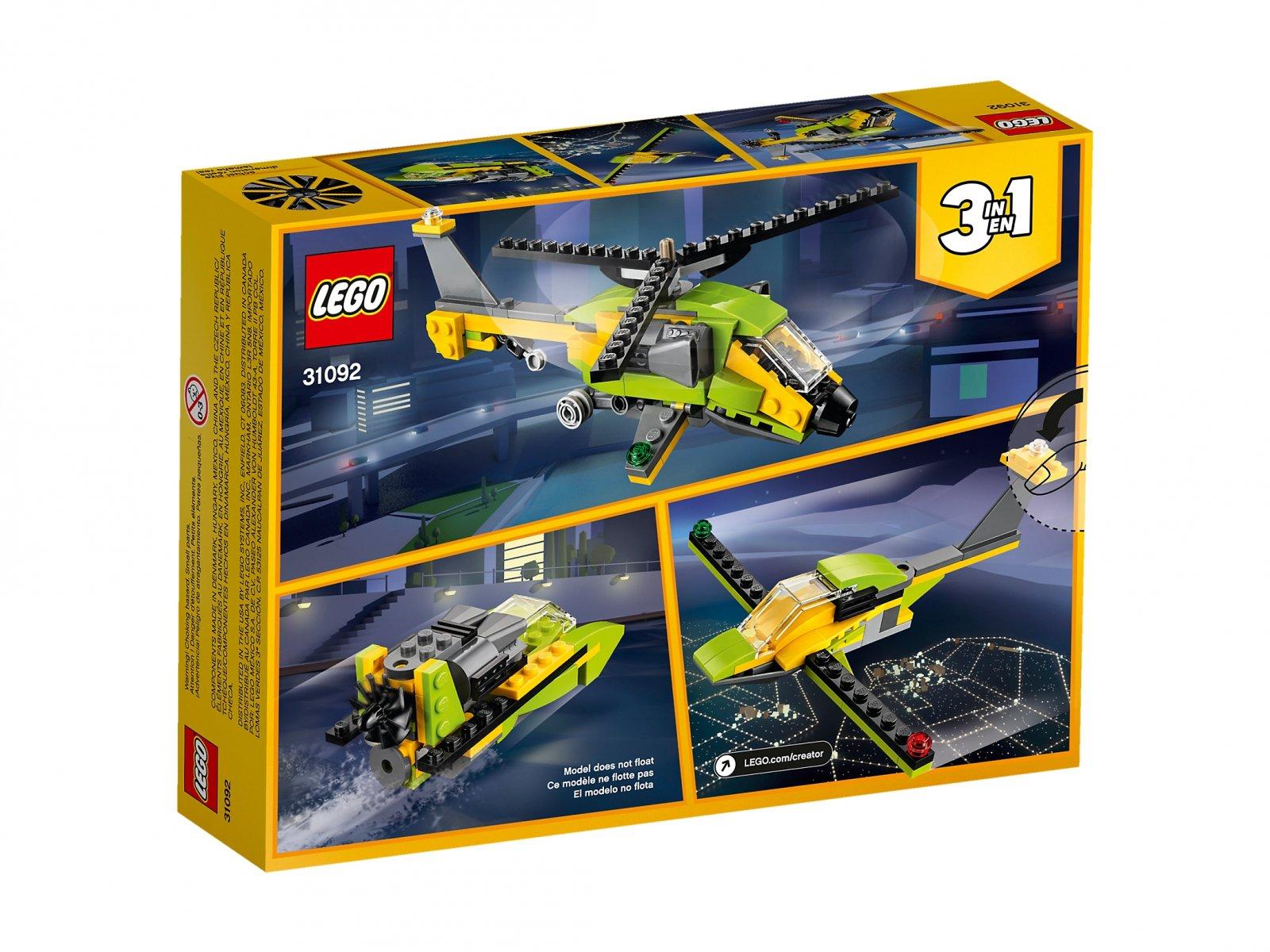 LEGO Creator 3 w 1 31092 Przygoda z helikopterem