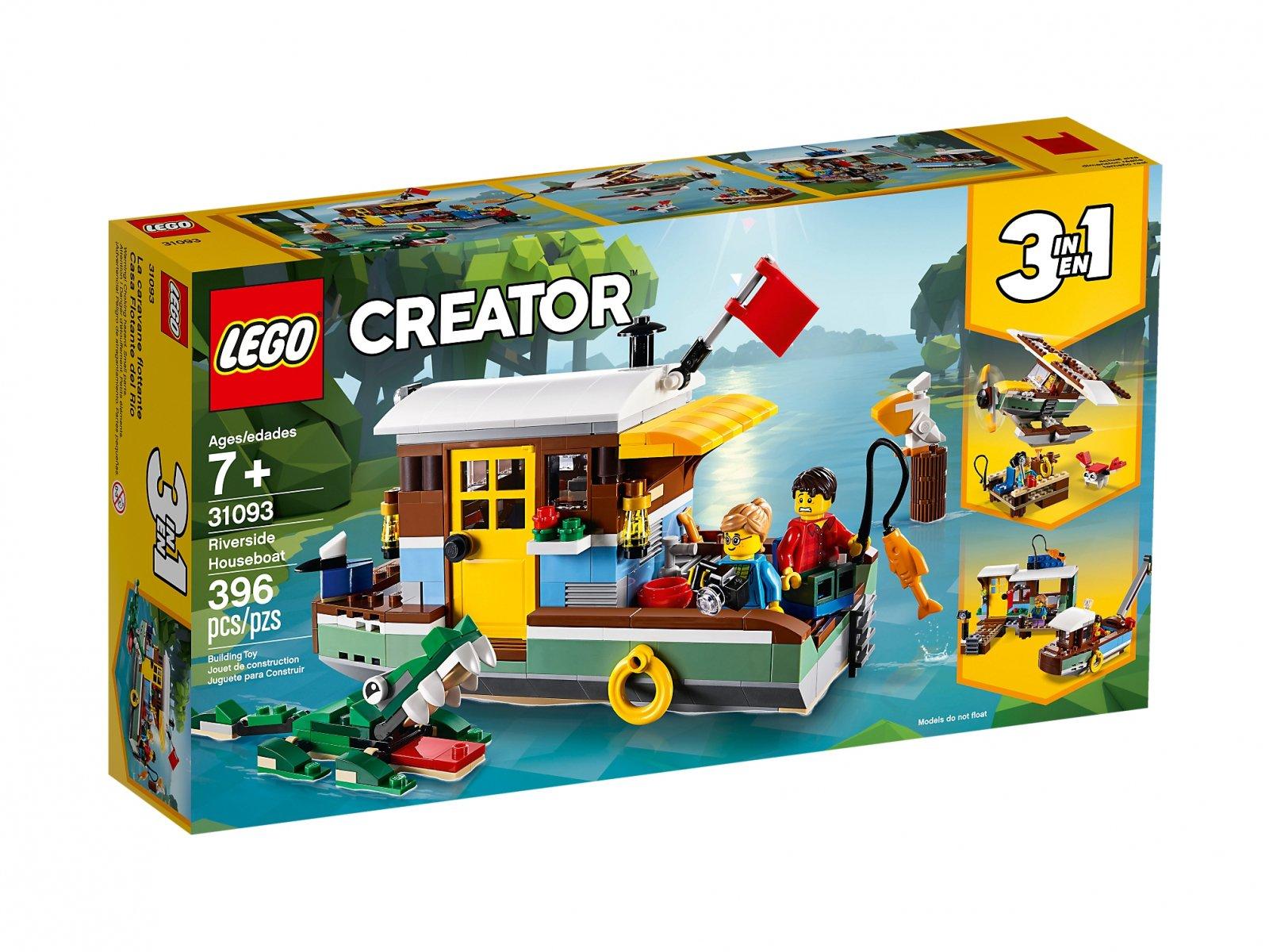 LEGO 31093 Creator 3 w 1 Łódź mieszkalna