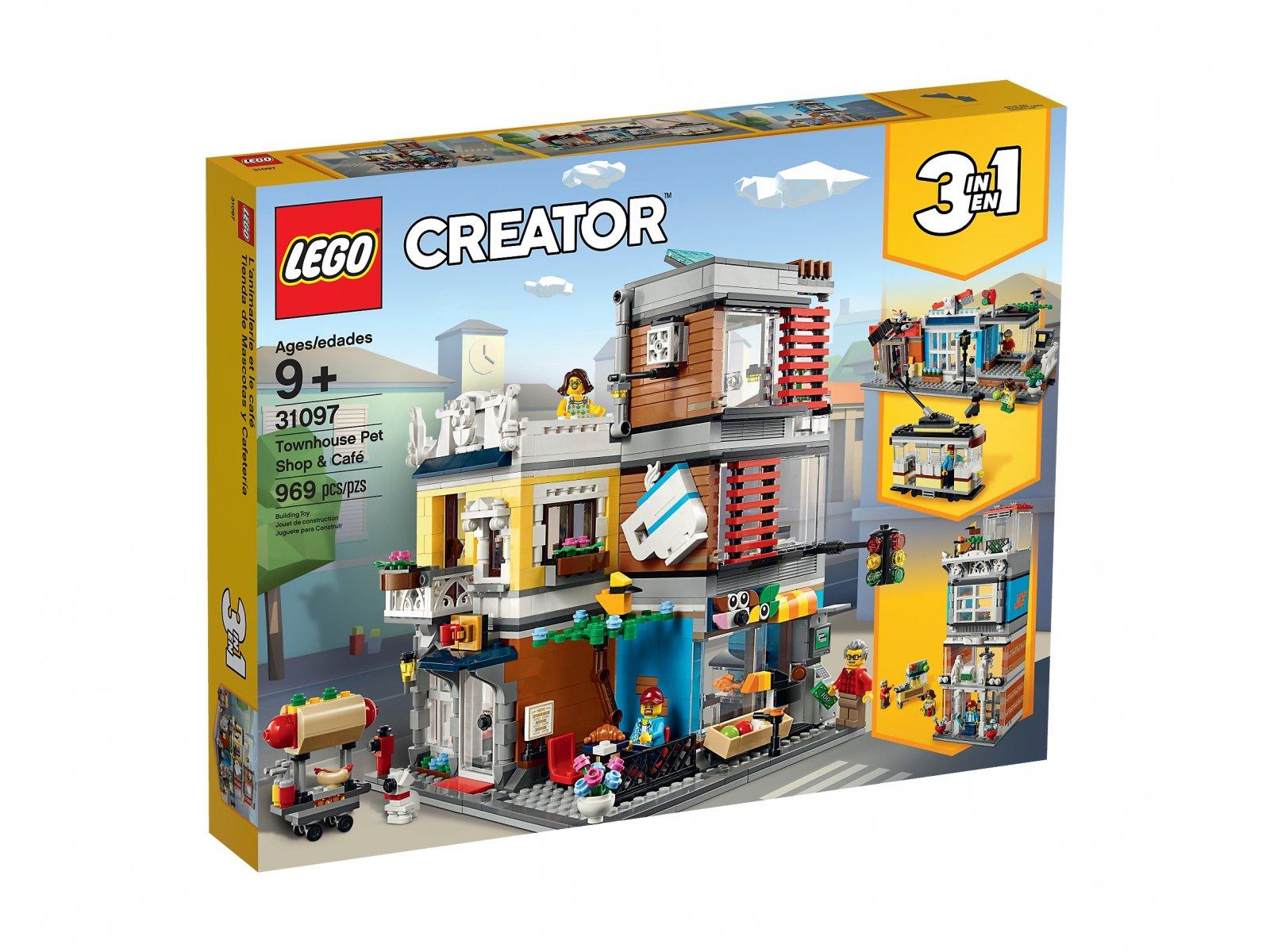 LEGO 31097 Creator 3 w 1 Sklep zoologiczny i kawiarenka