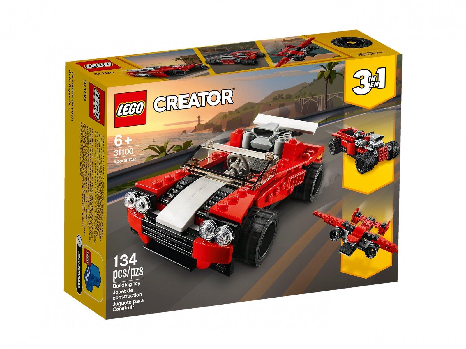 LEGO Creator 3 w 1 Samochód sportowy 31100