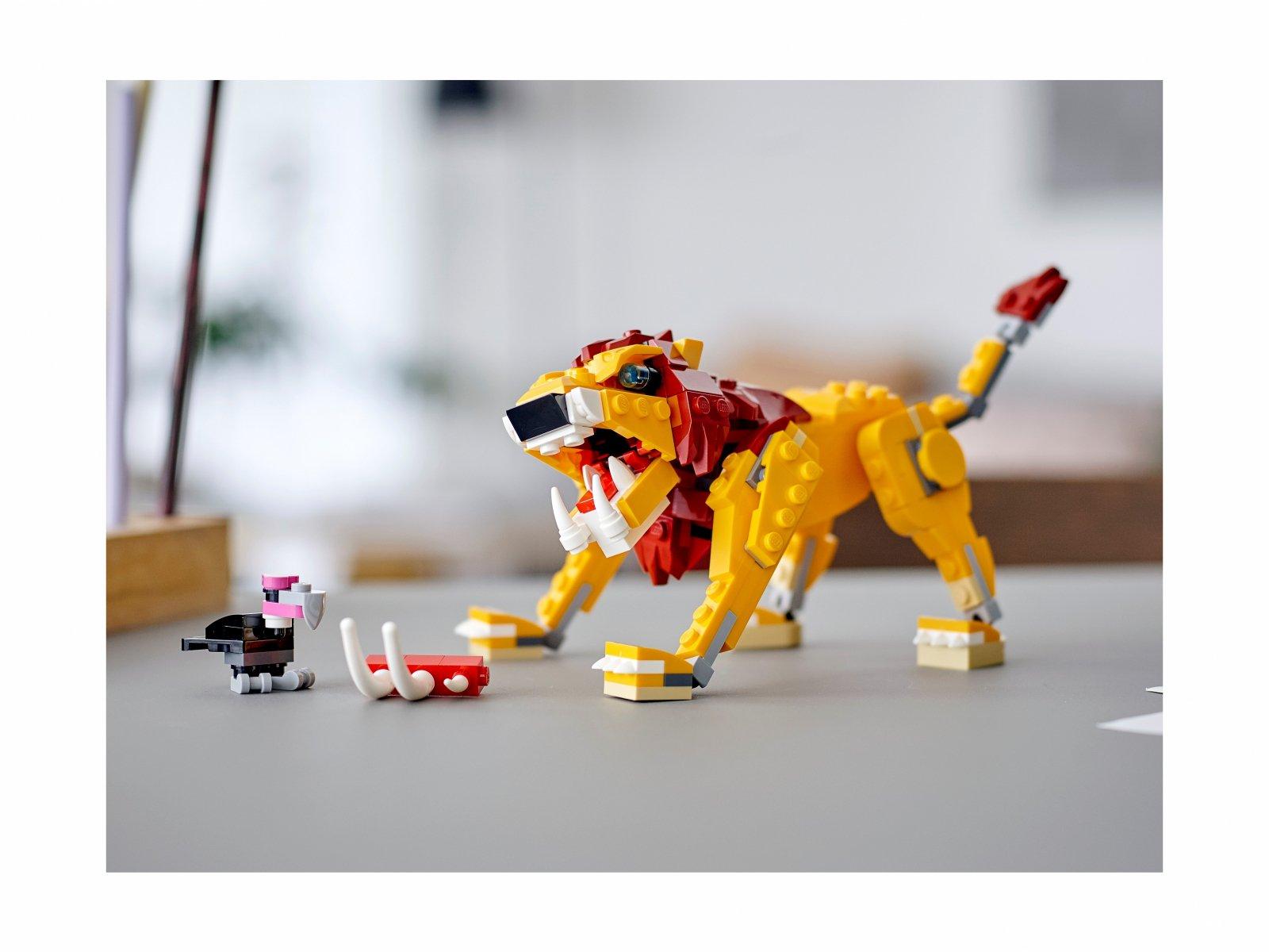 LEGO Creator 3 w 1 31112 Dziki lew