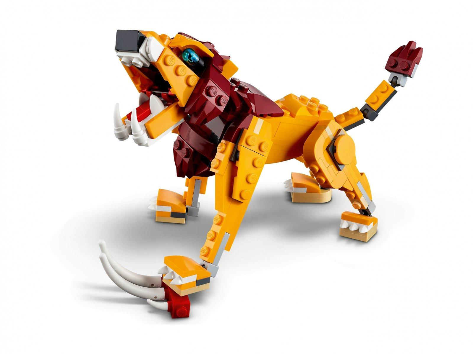 LEGO Creator 3 w 1 Dziki lew 31112