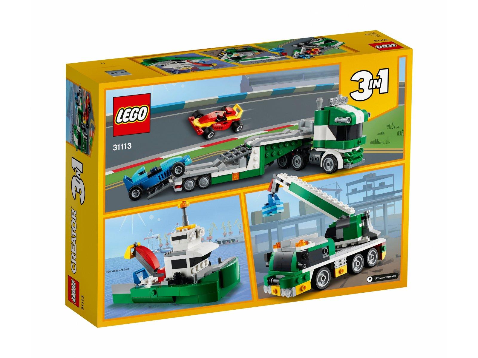 LEGO 31113 Laweta z wyścigówkami