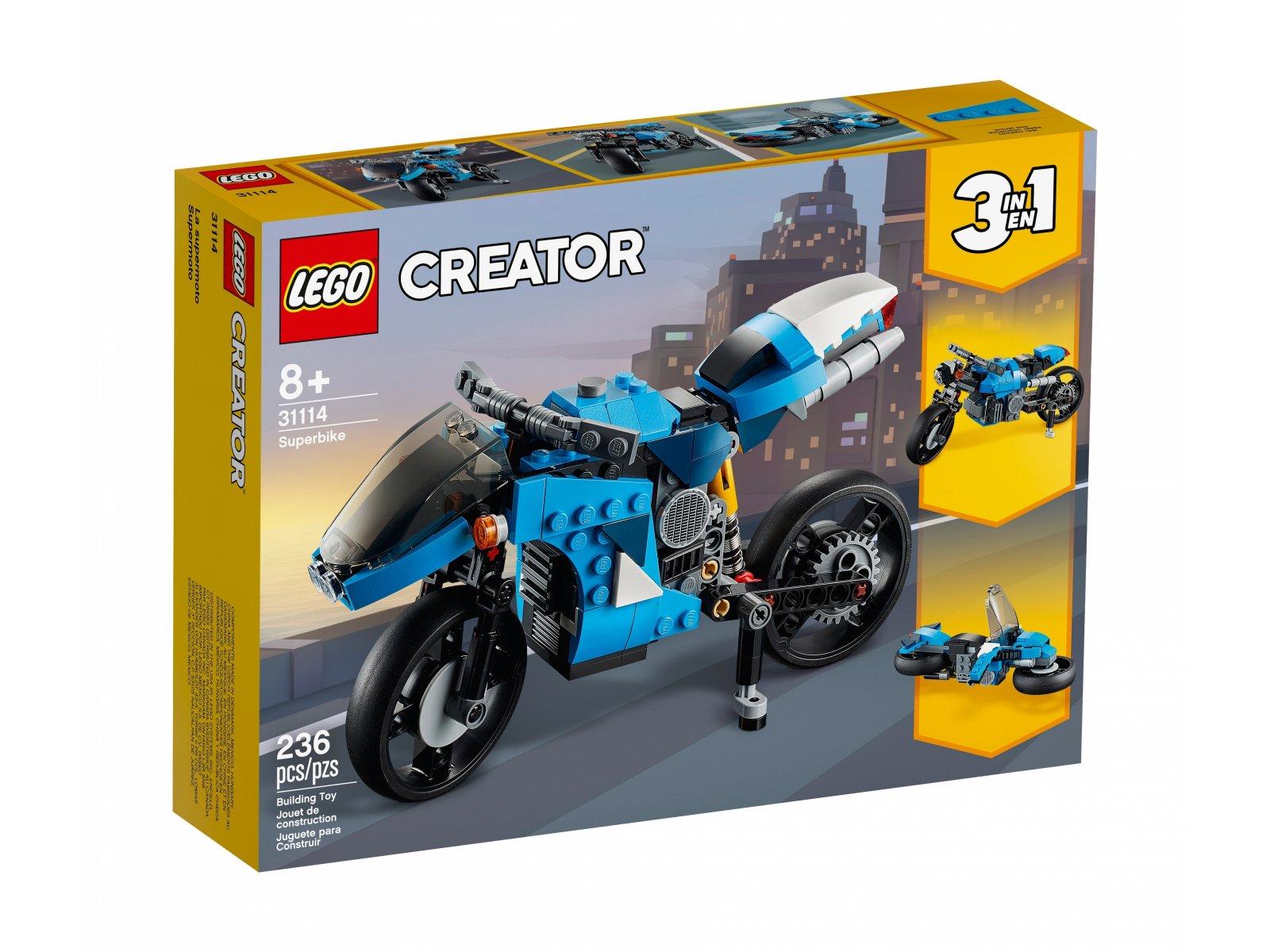 LEGO Creator 3 w 1 Supermotocykl 31114