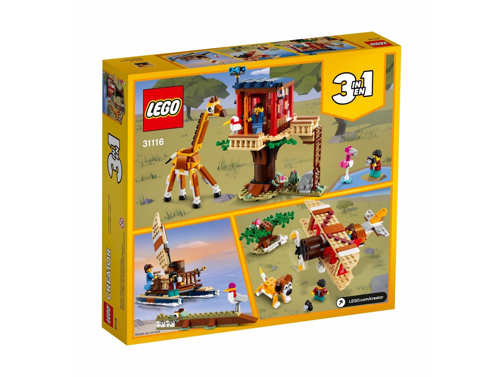 LEGO Creator 3 w 1 31116 Domek na drzewie na safari