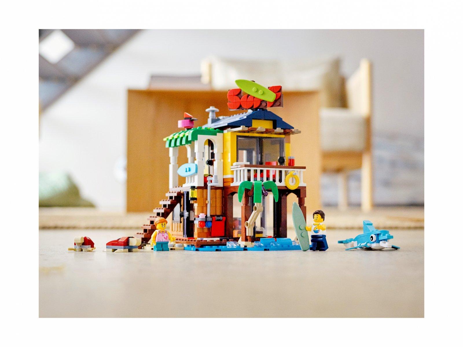 LEGO Creator 3 w 1 Domek surferów na plaży 31118