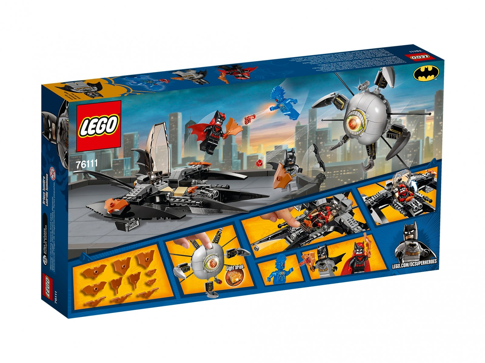 LEGO 76111 DC Comics™ Super Heroes Batman™: pojedynek z Brother Eye™