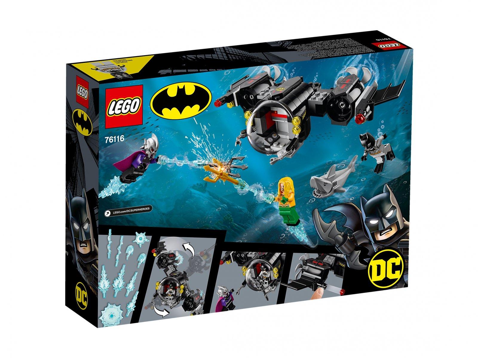 LEGO 76116 DC Comics™ Super Heroes Łódź podwodna Batmana™