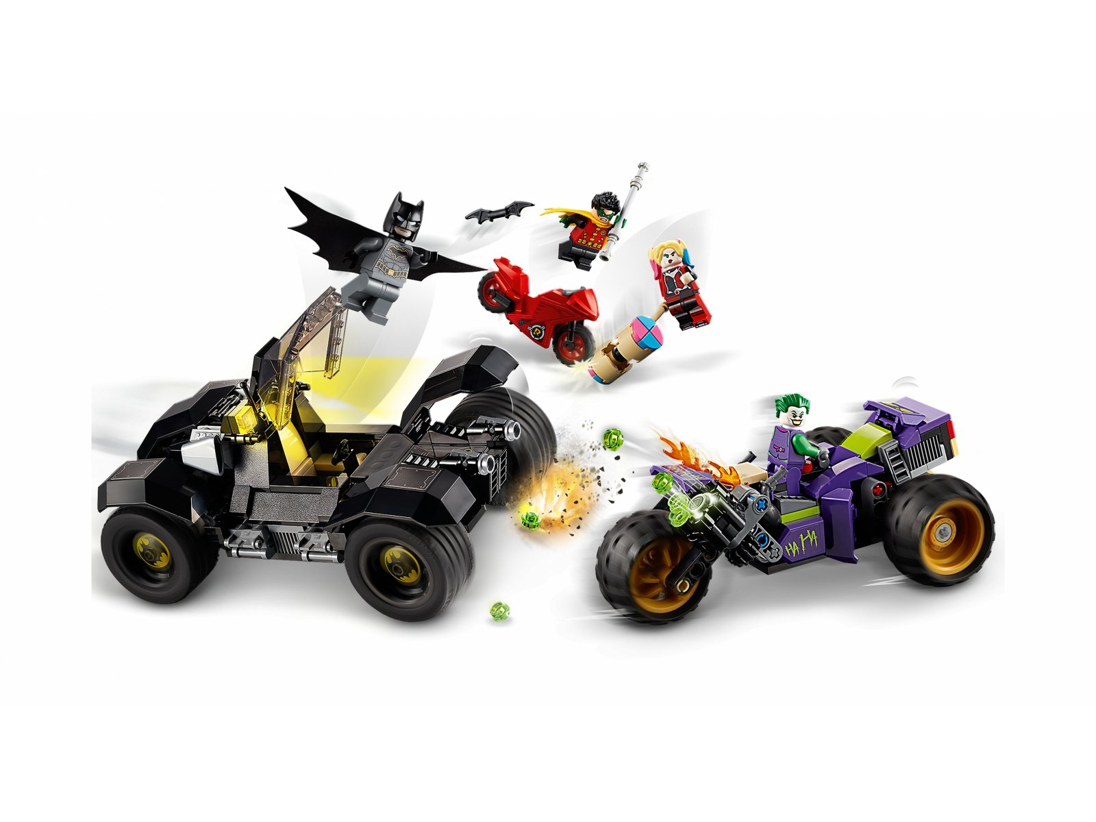LEGO DC Comics Super Heroes Trójkołowy motocykl Jokera 76159