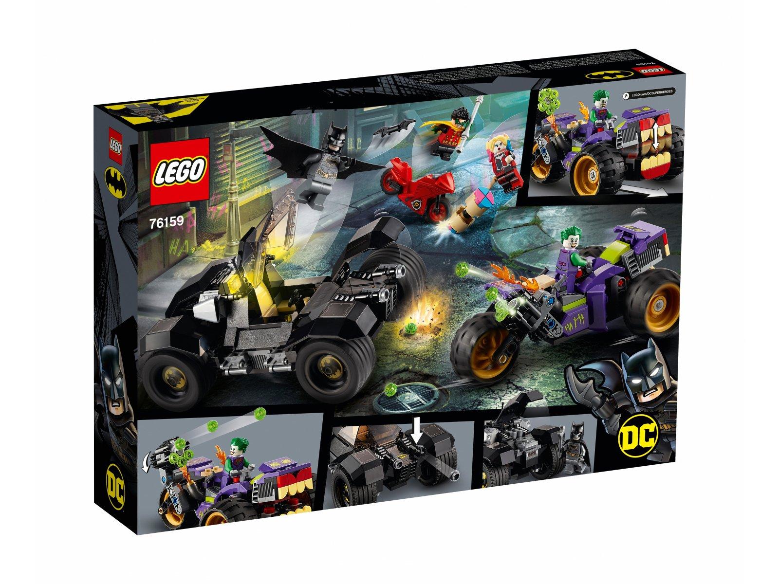 LEGO 76159 DC Comics Super Heroes Trójkołowy motocykl Jokera