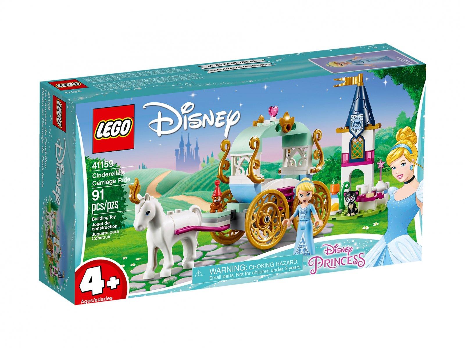 LEGO 41159 Disney™ Przejażdżka karetą Kopciuszka