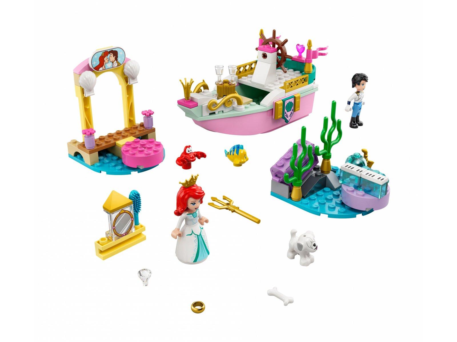 LEGO 43191 Disney Świąteczna łódź Arielki