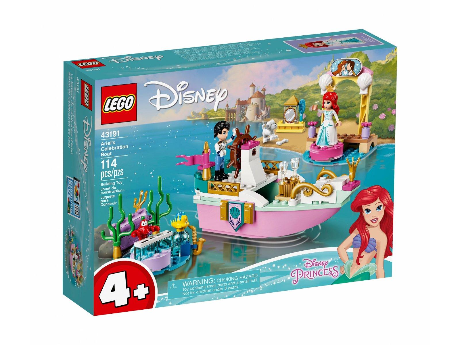LEGO Disney Świąteczna łódź Arielki 43191