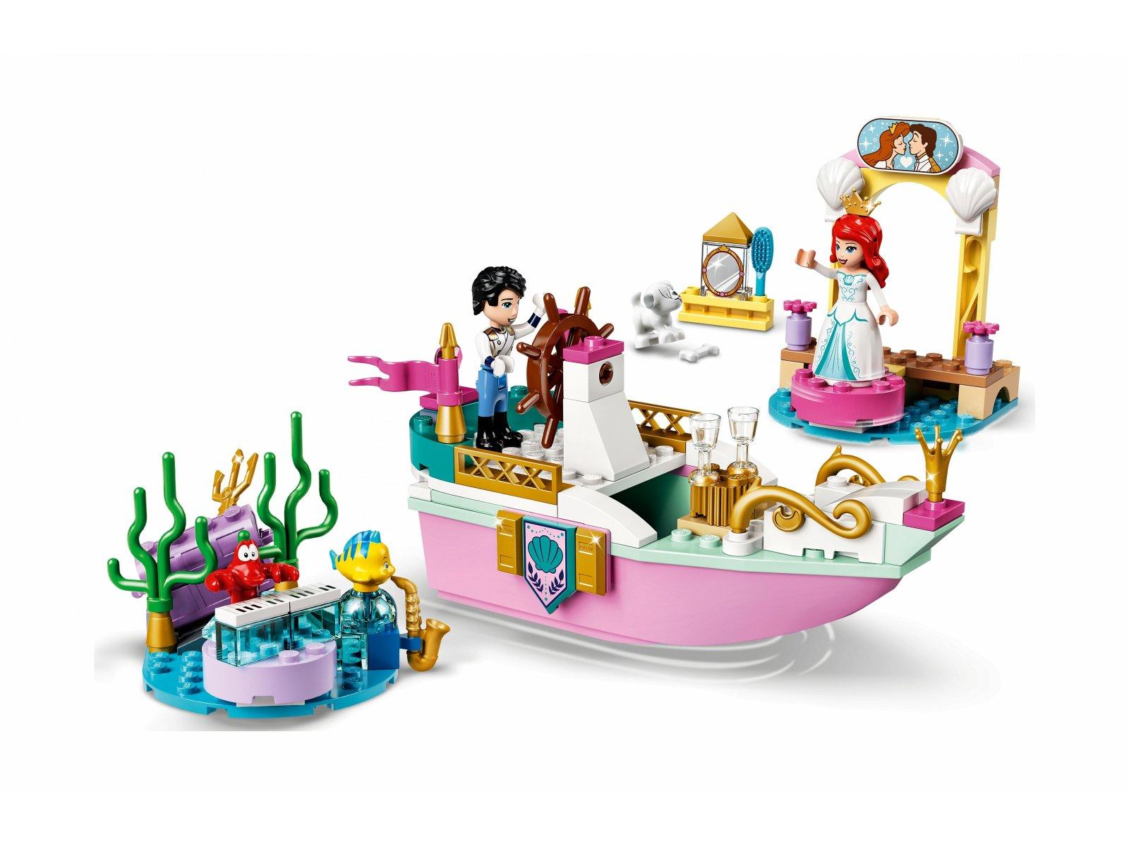 LEGO Disney 43191 Świąteczna łódź Arielki