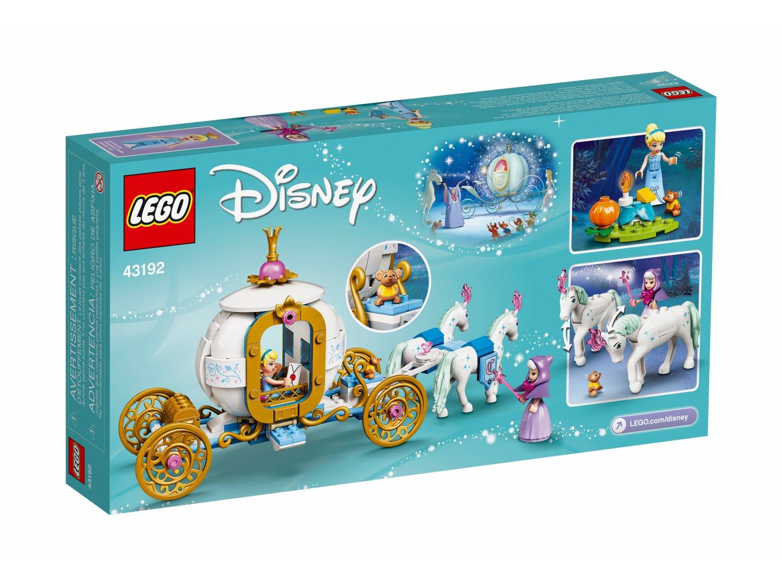 LEGO 43192 Disney Królewski powóz Kopciuszka