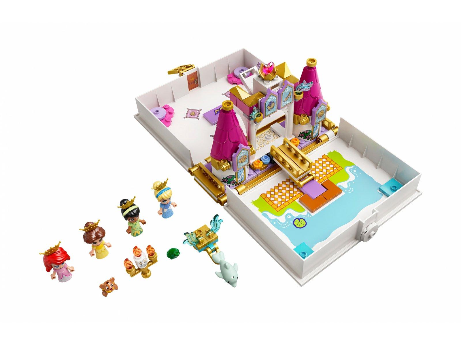 LEGO 43193 Książka z przygodami Arielki, Belli, Kopciuszka i Tiany