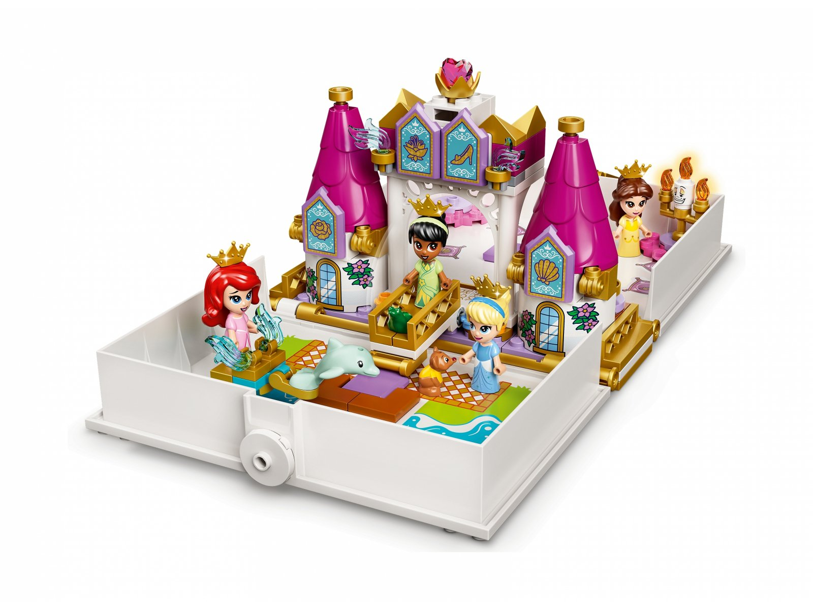 LEGO 43193 Disney Książka z przygodami Arielki, Belli, Kopciuszka i Tiany