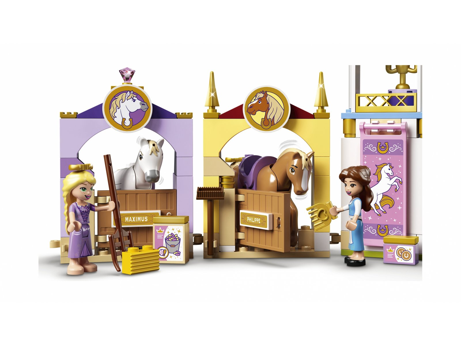 LEGO 43195 Disney Królewskie stajnie Belli i Roszpunki