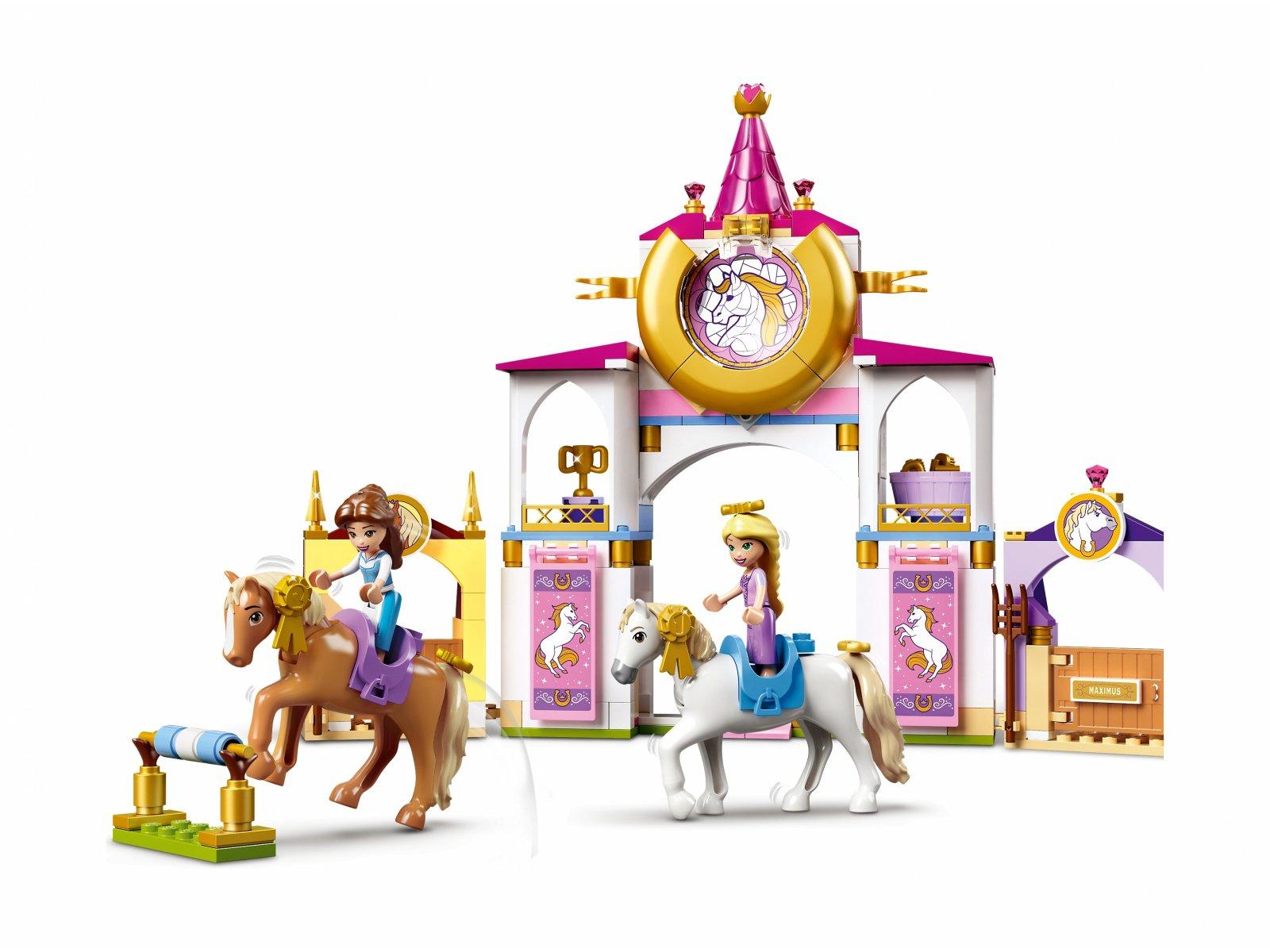 LEGO Disney Królewskie stajnie Belli i Roszpunki 43195