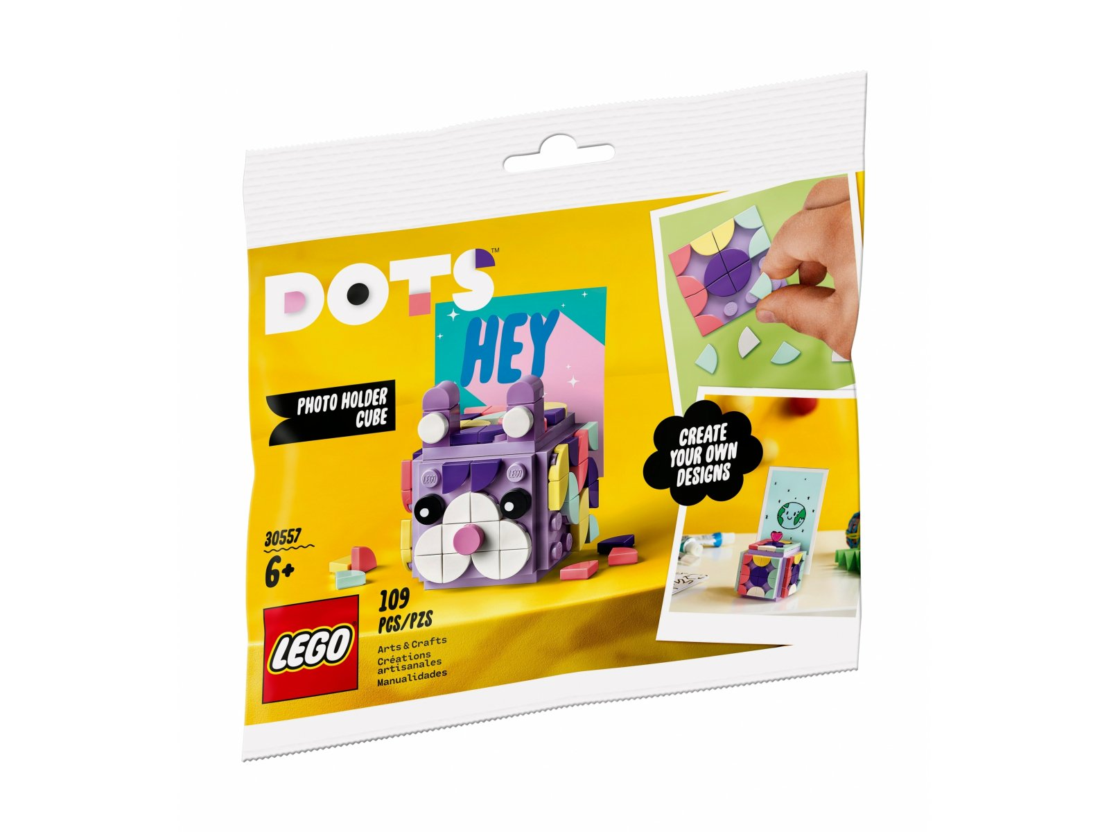 LEGO 30557 DOTS Podstawka na zdjęcia w kształcie kostki