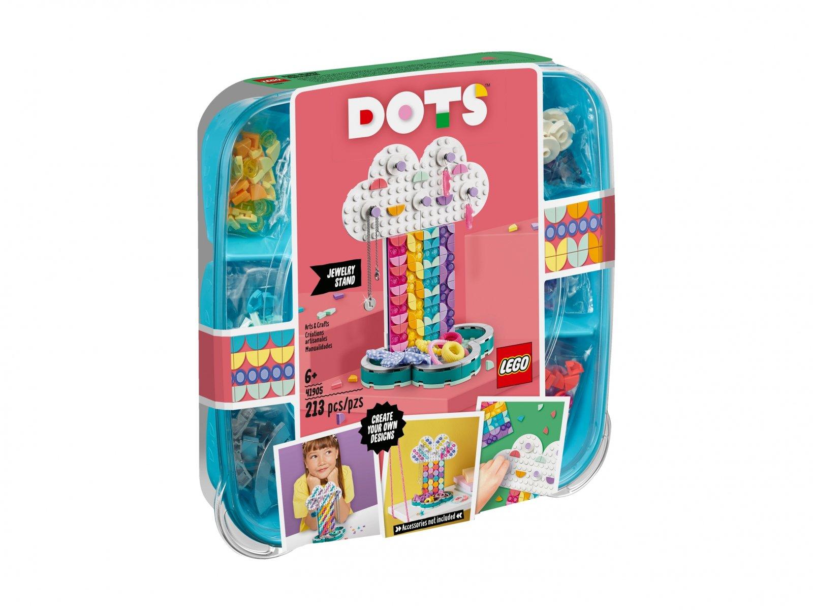 LEGO DOTS™ 41905 Tęczowy stojak na biżuterię