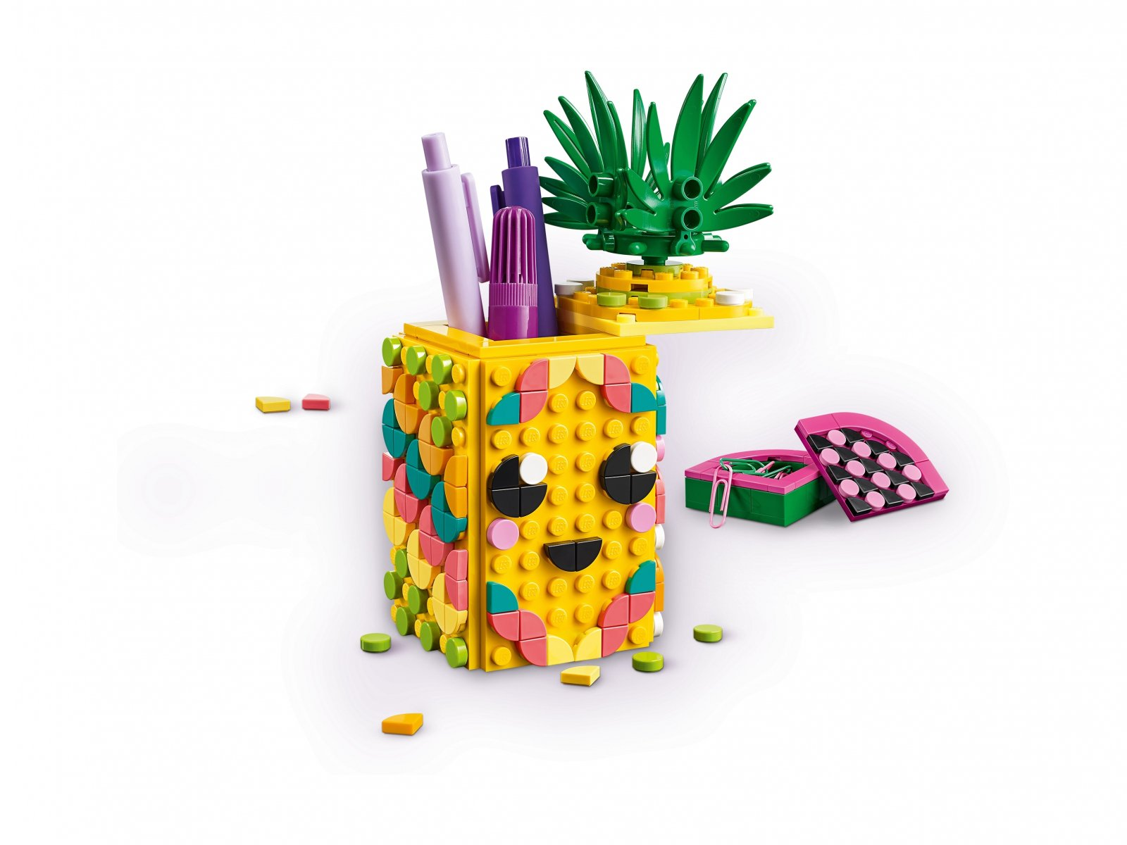 LEGO 41906 DOTS™ Pojemnik na długopisy w kształcie ananasa