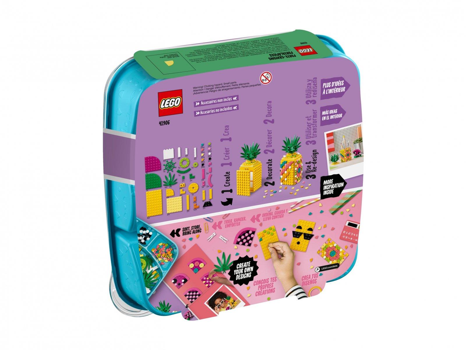 LEGO DOTS™ 41906 Pojemnik na długopisy w kształcie ananasa