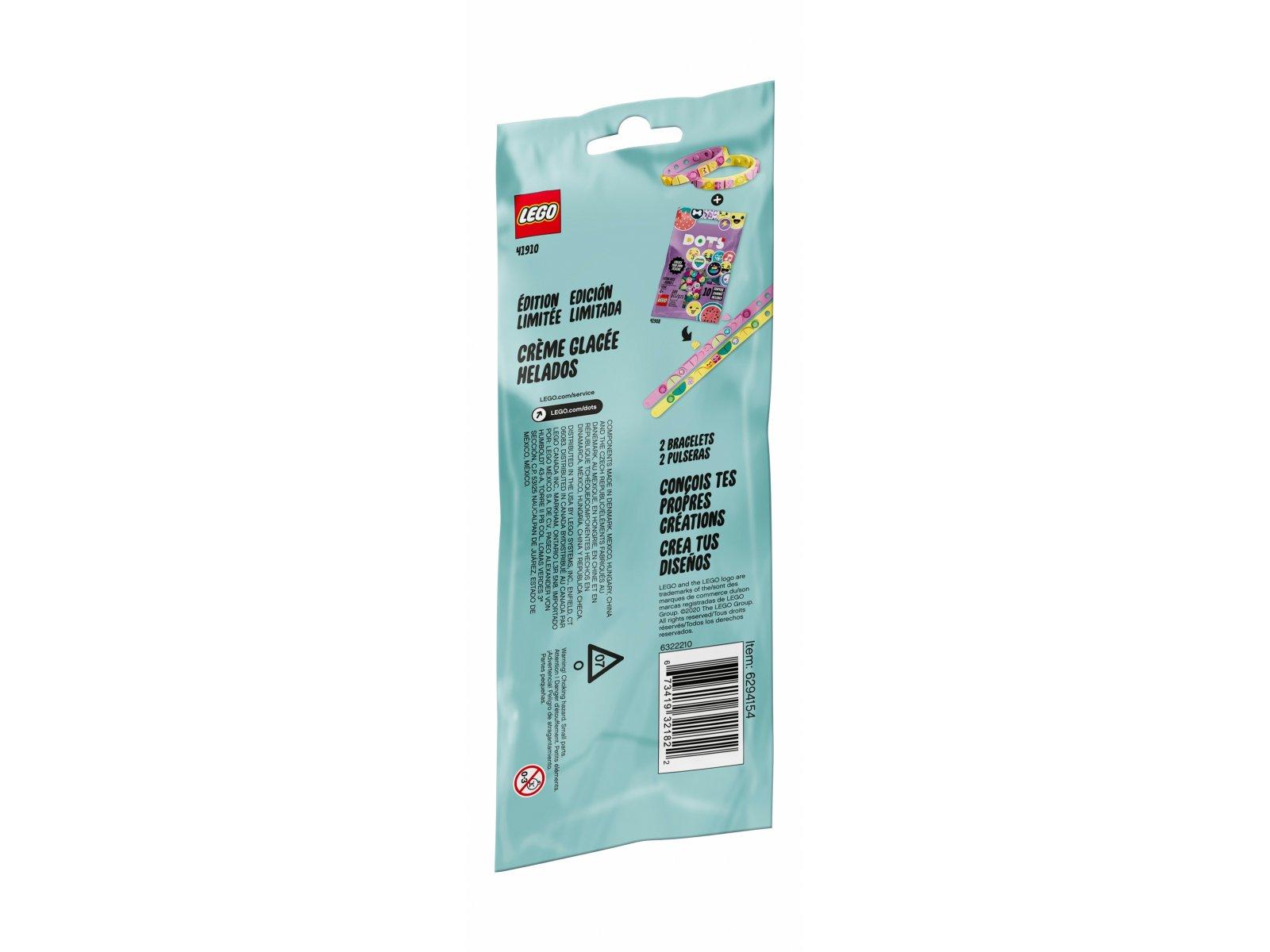 LEGO 41910 DOTS Bransoletki z lodami dla przyjaciół