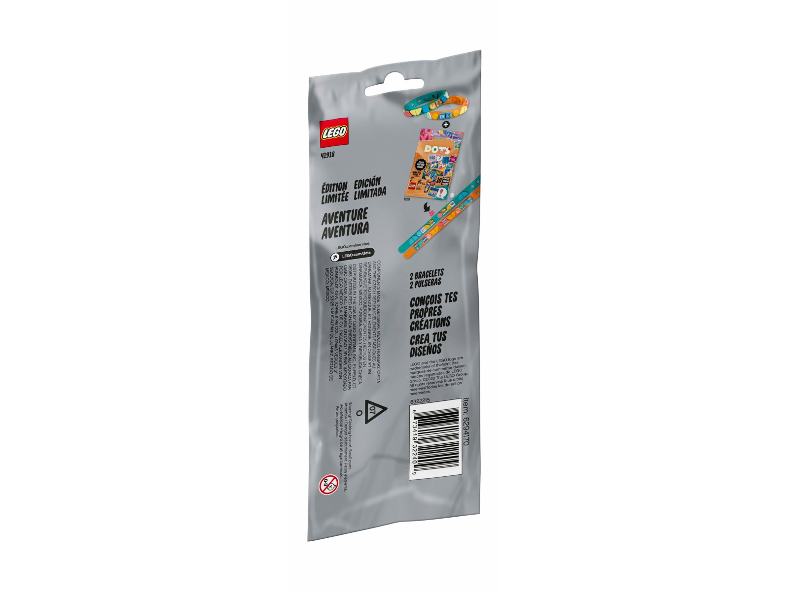 LEGO DOTS Bransoletki przygodowe 41918