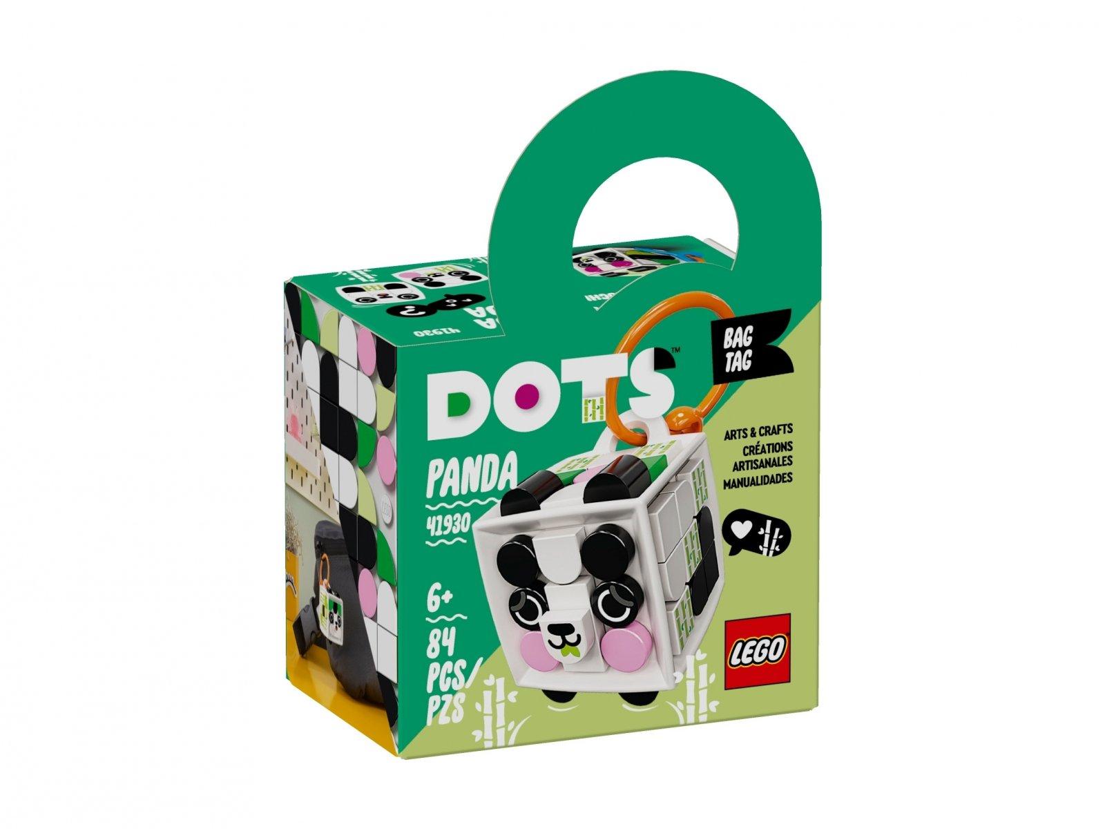 LEGO DOTS Zawieszka z pandą 41930