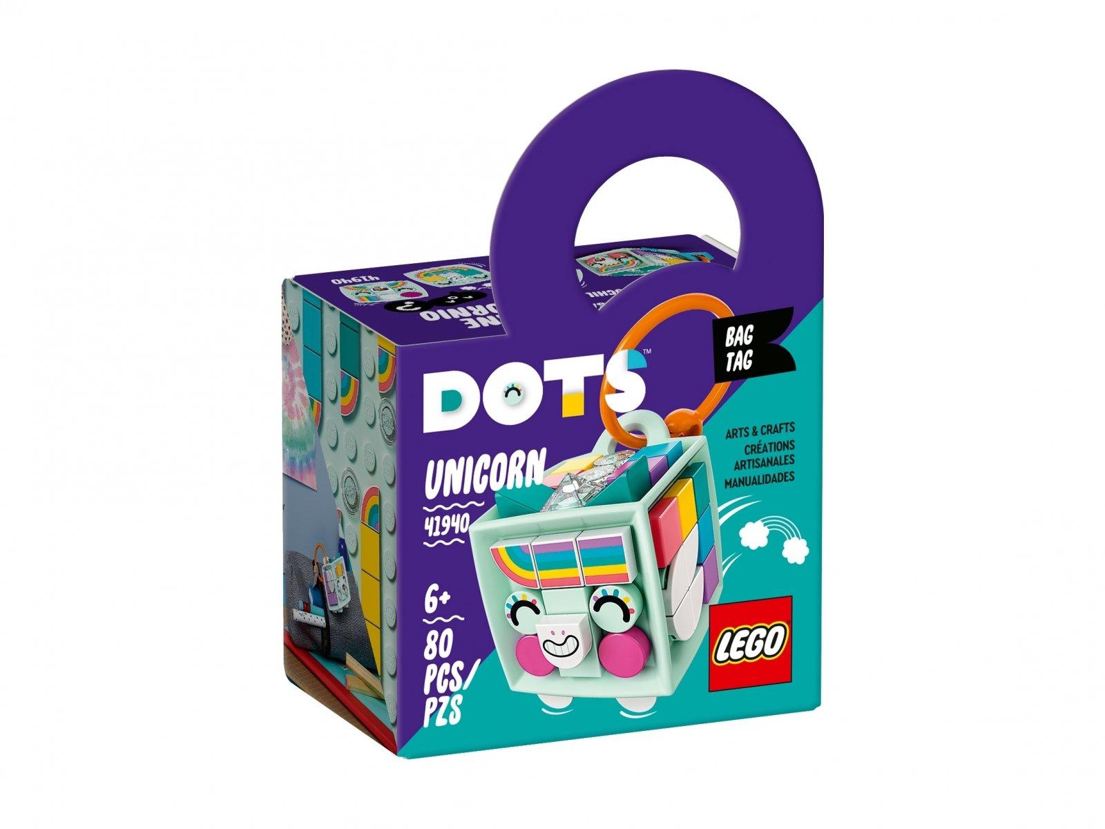 LEGO 41940 DOTS Zawieszka z jednorożcem