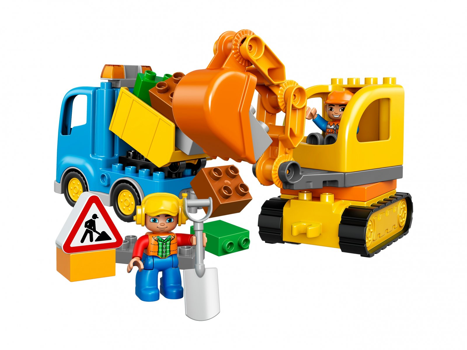 LEGO Duplo® Ciężarówka i koparka gąsienicowa