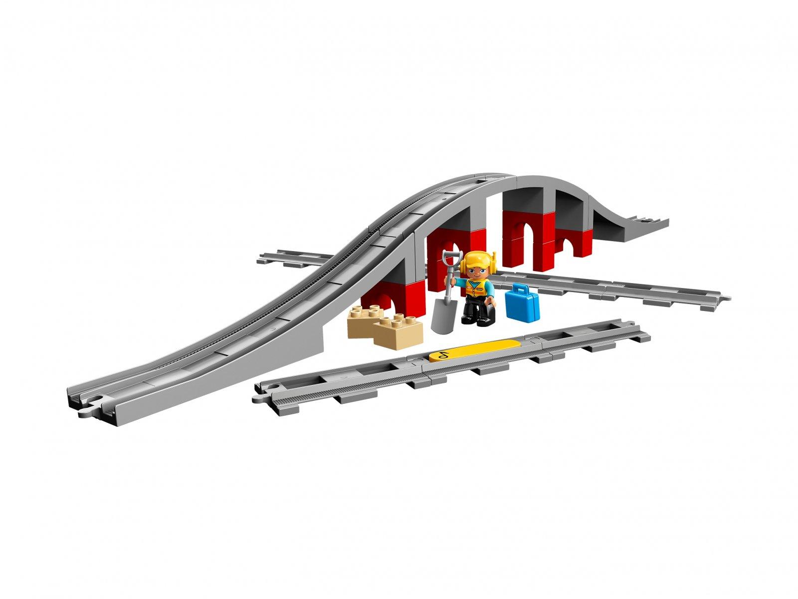 LEGO Duplo® Tory kolejowe i wiadukt 10872