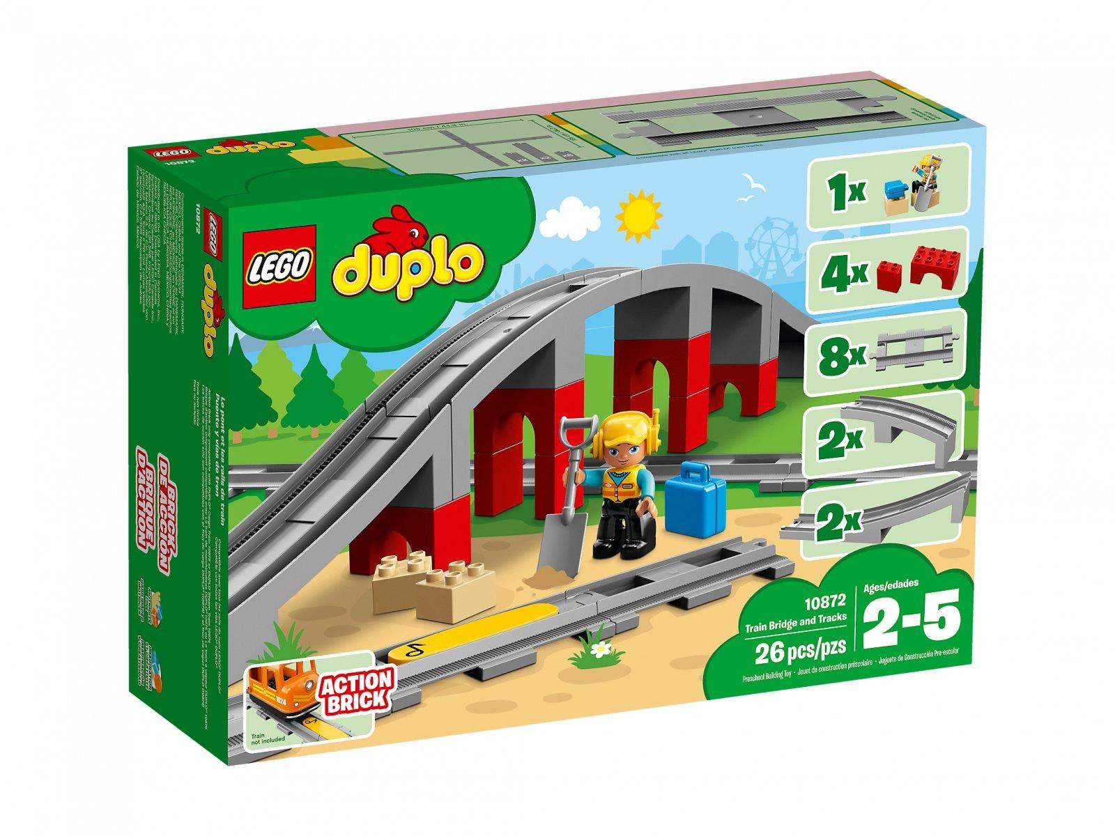 LEGO Duplo® Tory kolejowe i wiadukt