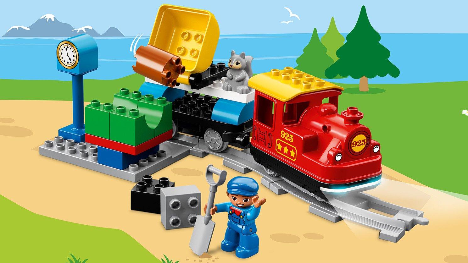 Lego 10874 Duplo Pociąg Parowy Zklockówpl