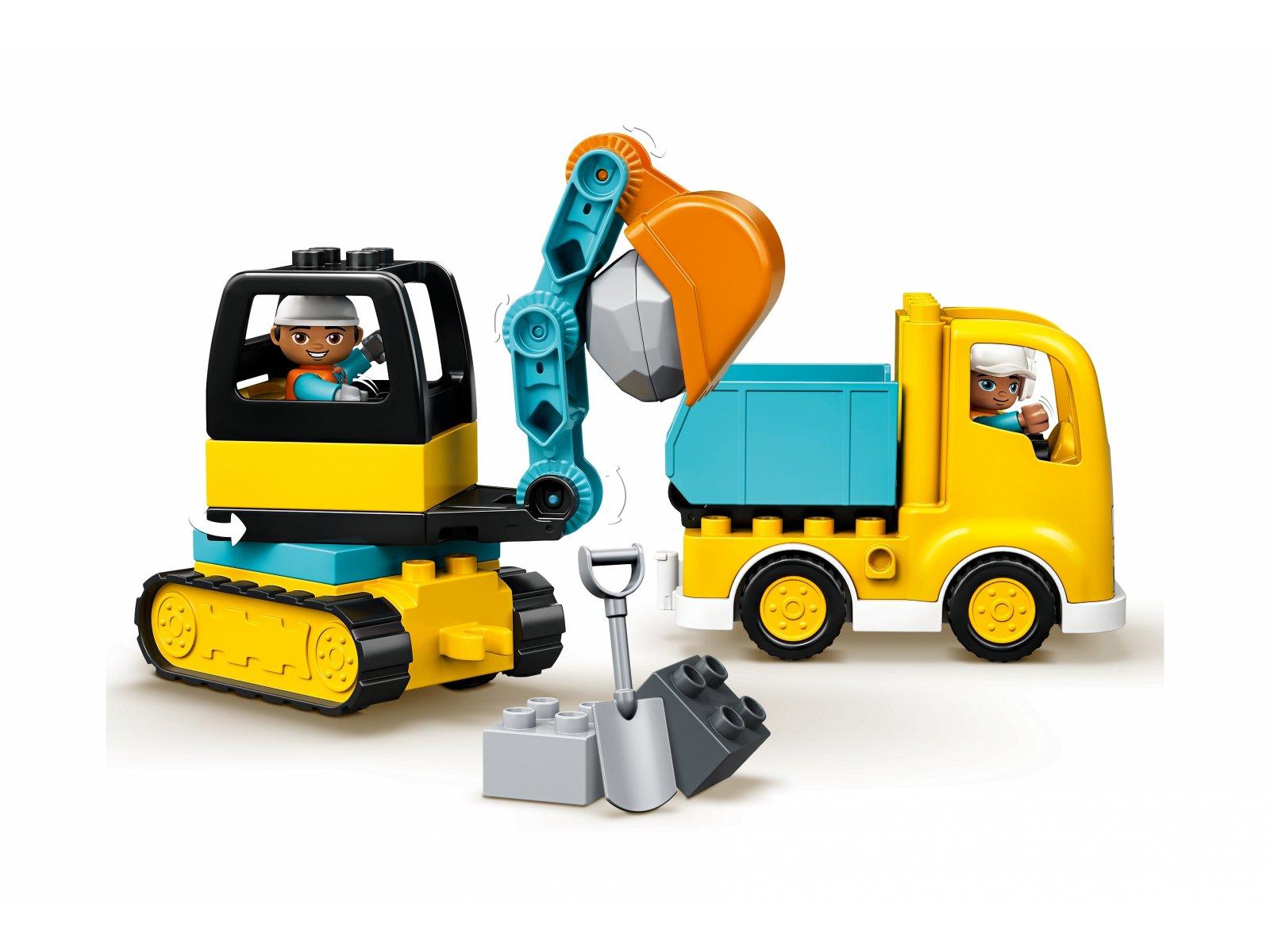 LEGO 10931 Ciężarówka i koparka gąsienicowa