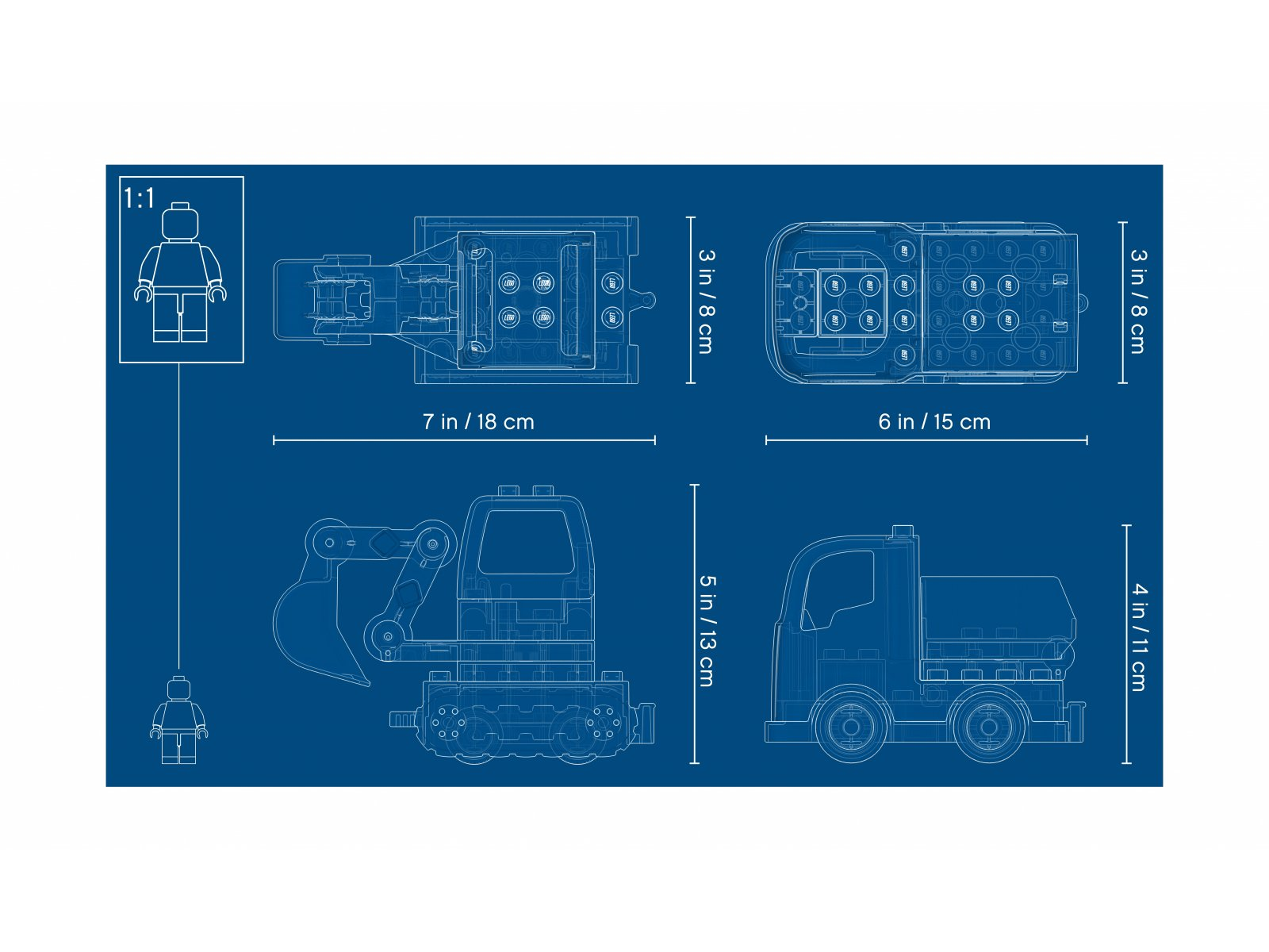 LEGO Duplo® 10931 Ciężarówka i koparka gąsienicowa