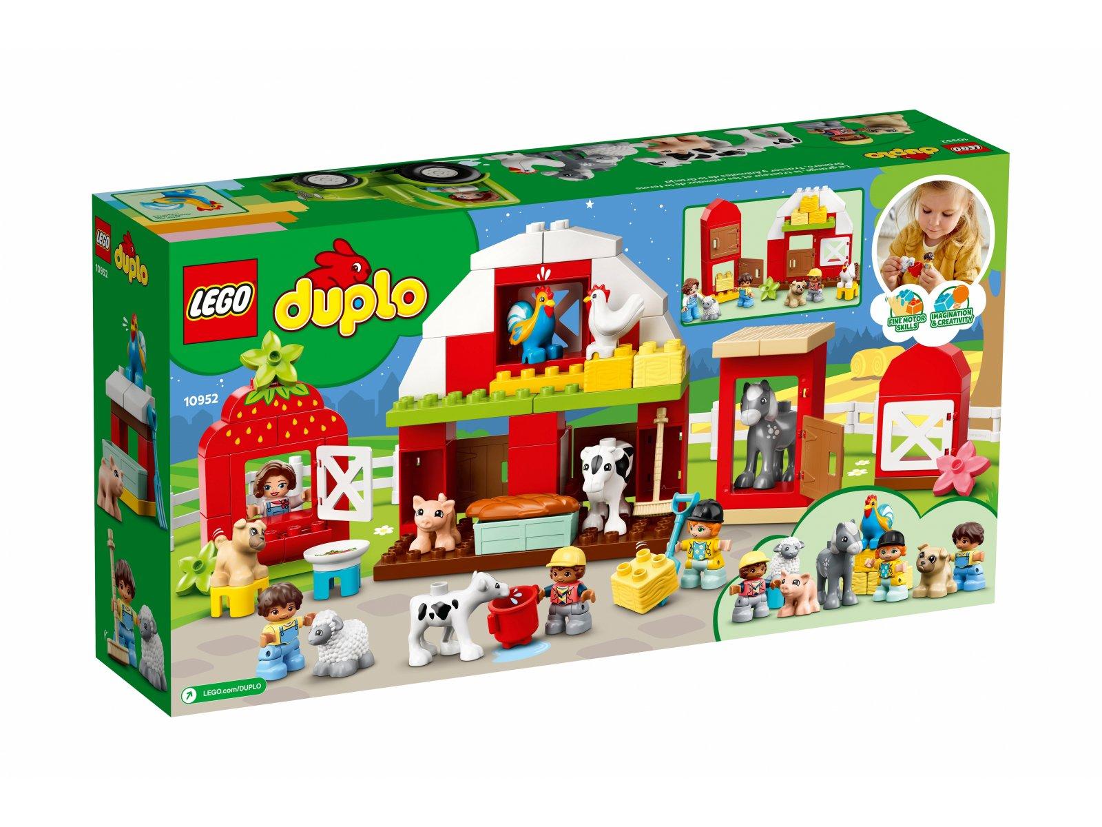 LEGO 10952 Stodoła, traktor i zwierzęta gospodarskie