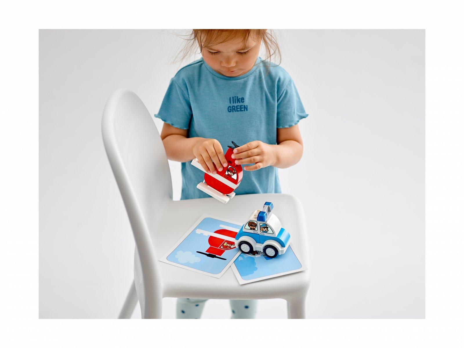 LEGO 10957 Duplo® Helikopter strażacki i radiowóz