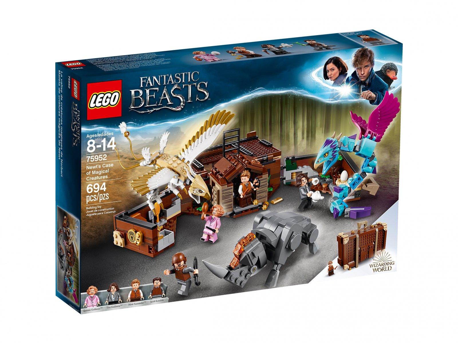 LEGO 75952 Fantastic Beasts™ Walizka Newta z magicznymi stworzeniami