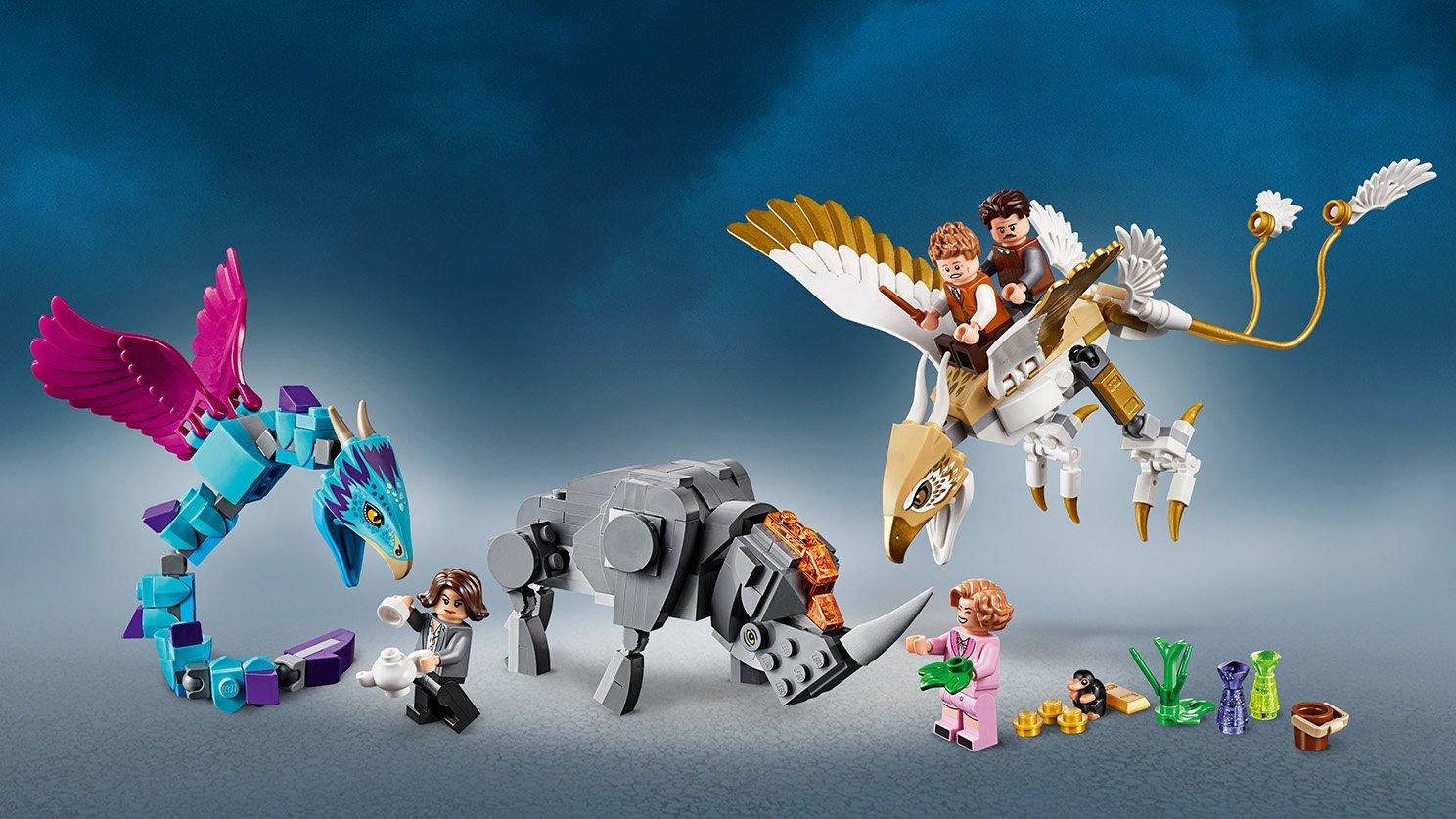 LEGO Fantastic Beasts™ Walizka Newta z magicznymi stworzeniami