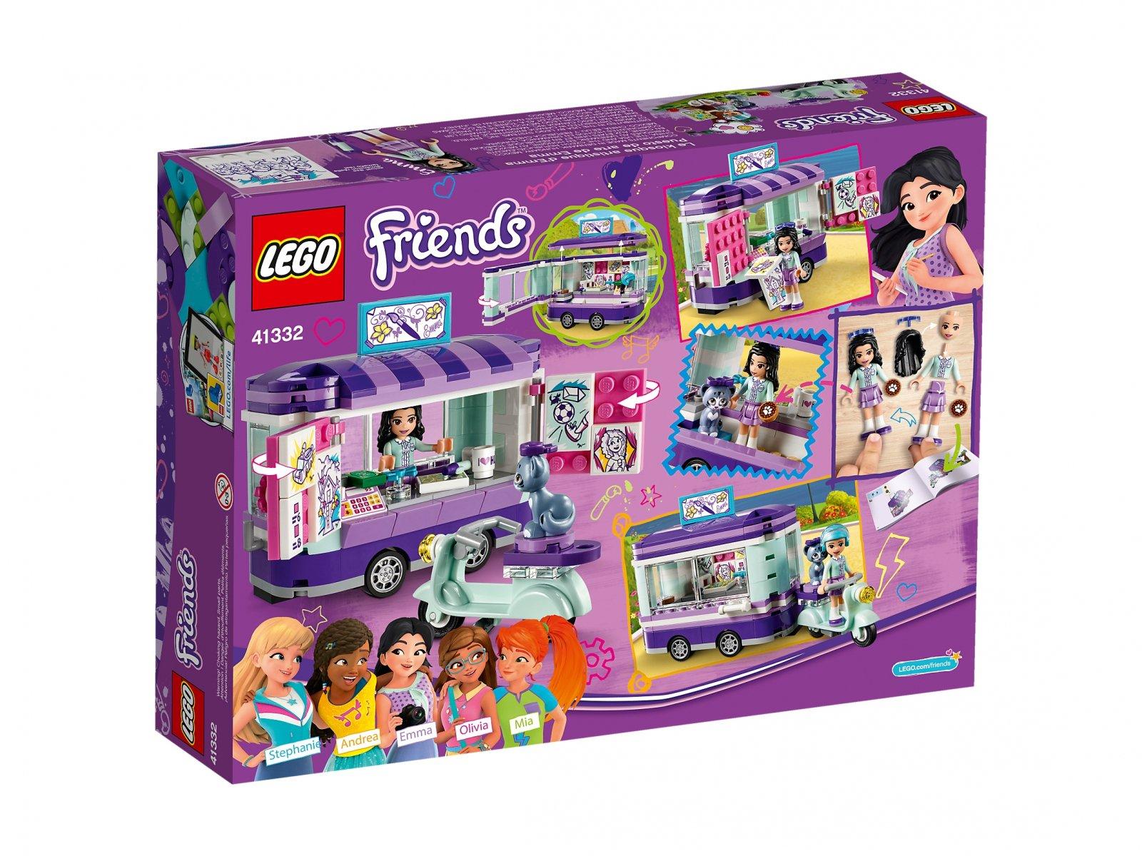 LEGO Friends 41332 Stoisko z rysunkami Emmy