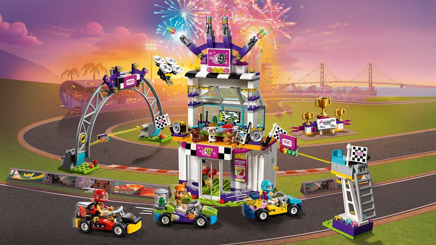 LEGO Friends Dzień wielkiego wyścigu 41352