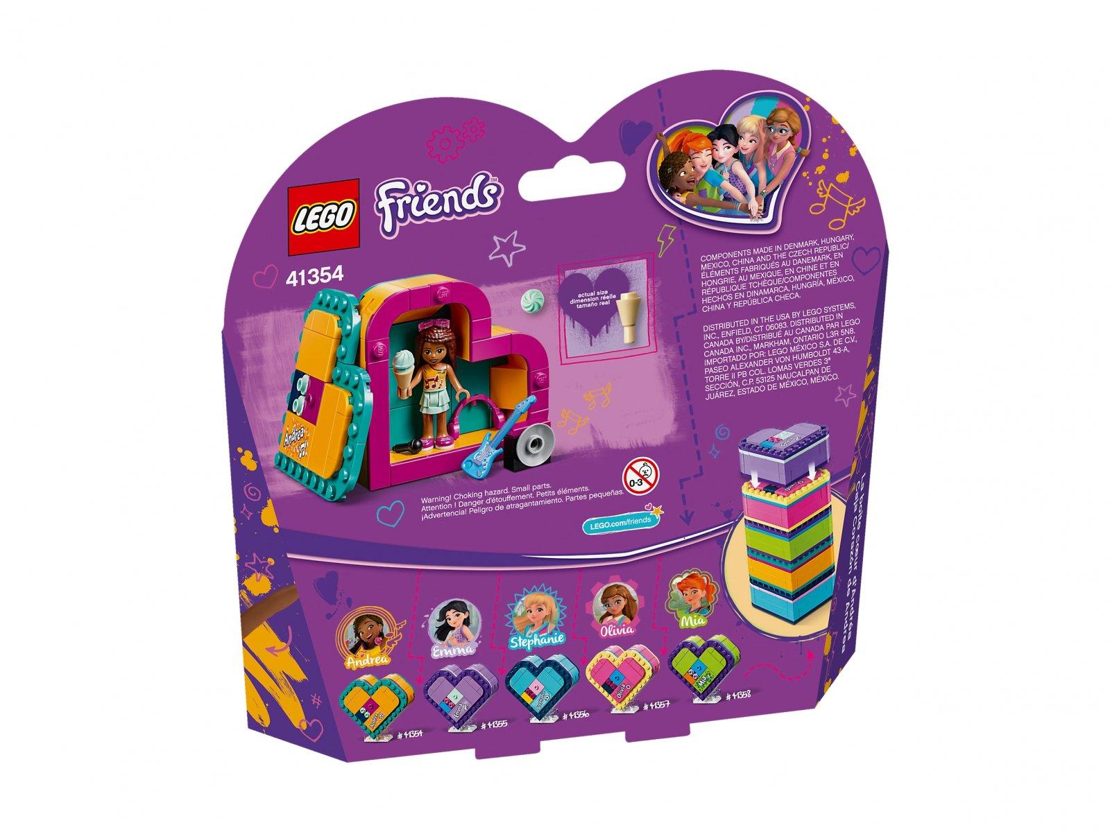 LEGO Friends Pudełko w kształcie serca Andrei