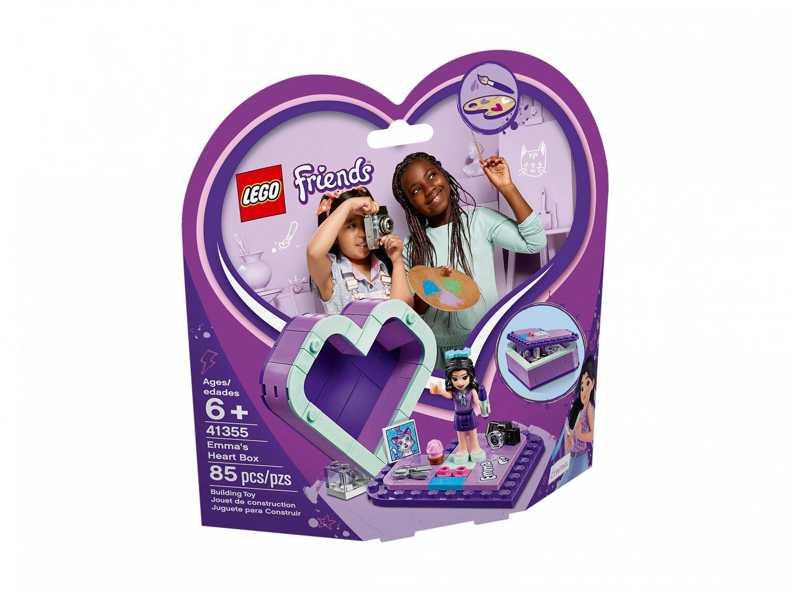 LEGO Friends Pudełko w kształcie serca Emmy