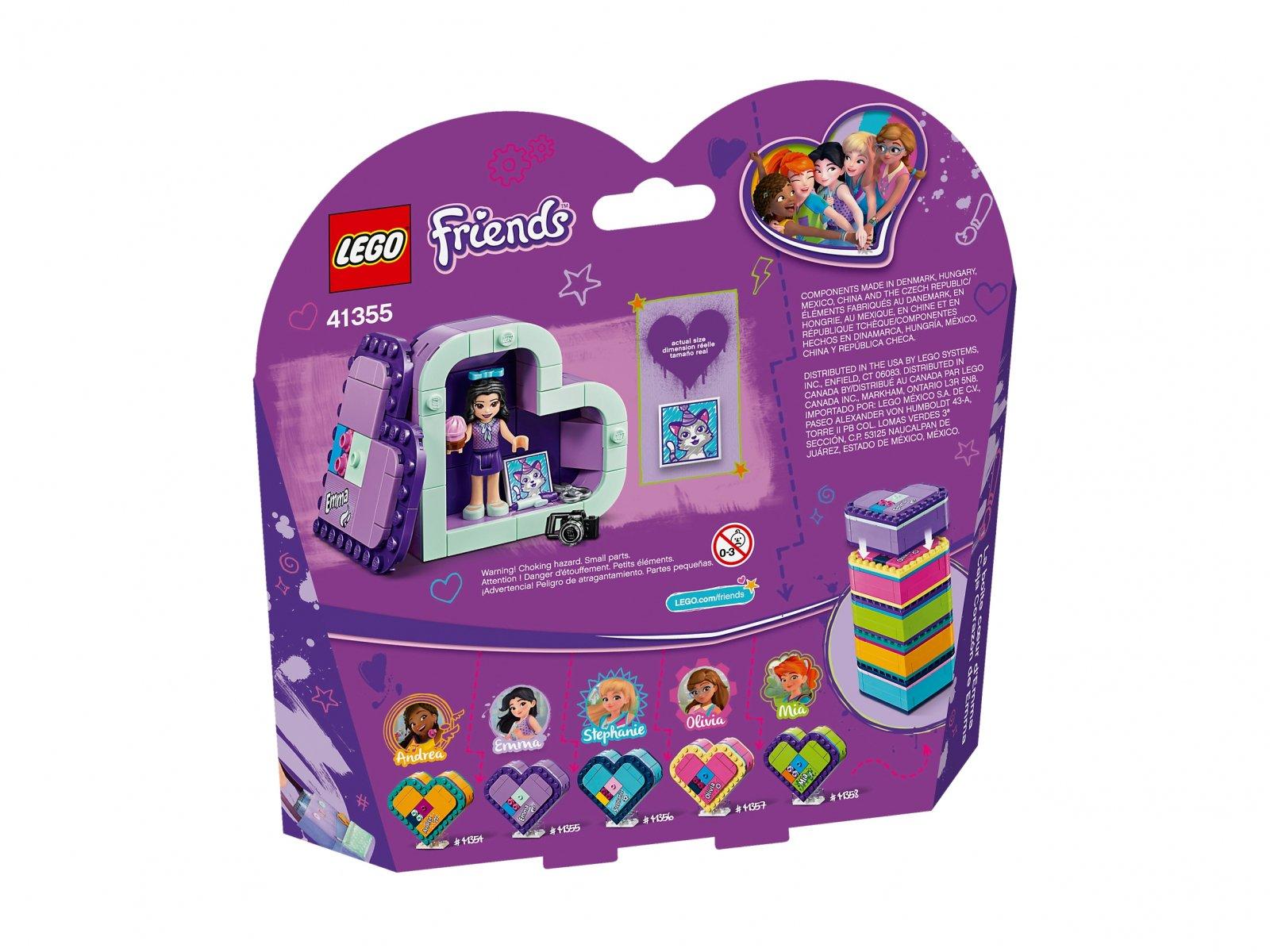 LEGO Friends 41355 Pudełko w kształcie serca Emmy