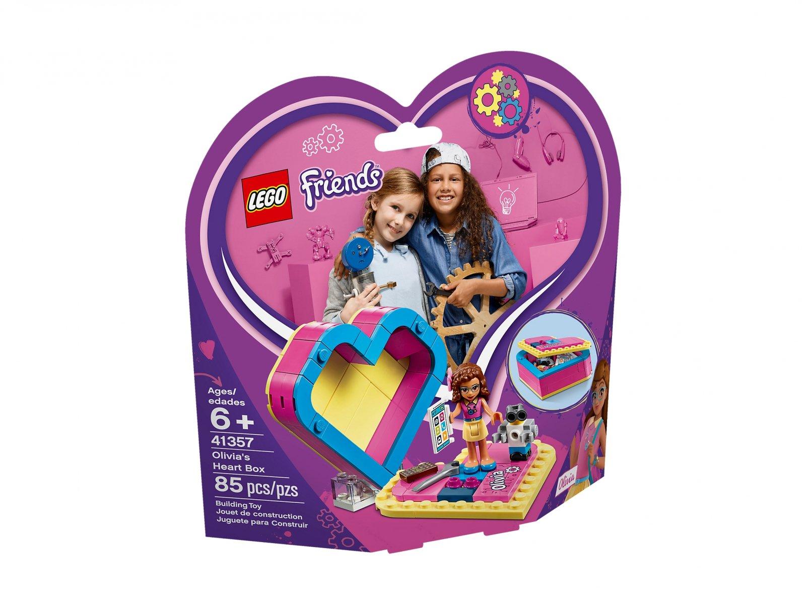 LEGO 41357 Pudełko w kształcie serca Olivii