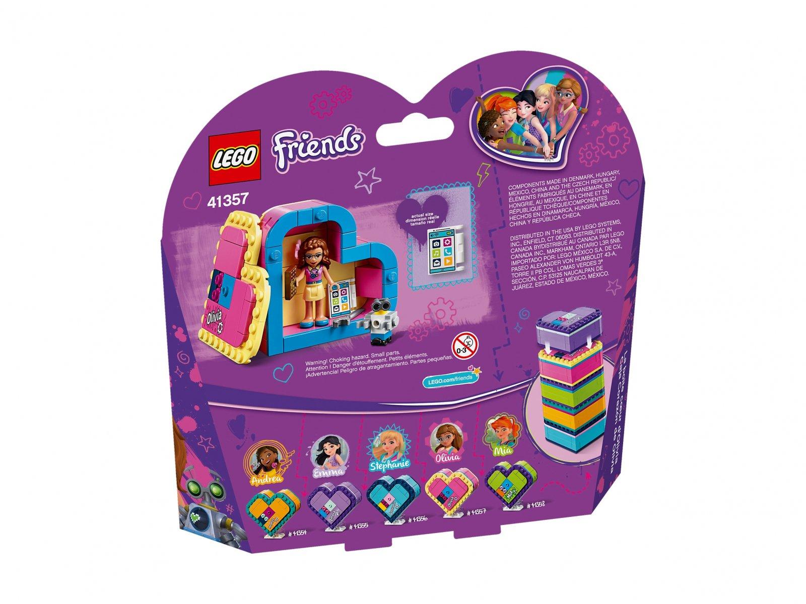 LEGO 41357 Friends Pudełko w kształcie serca Olivii